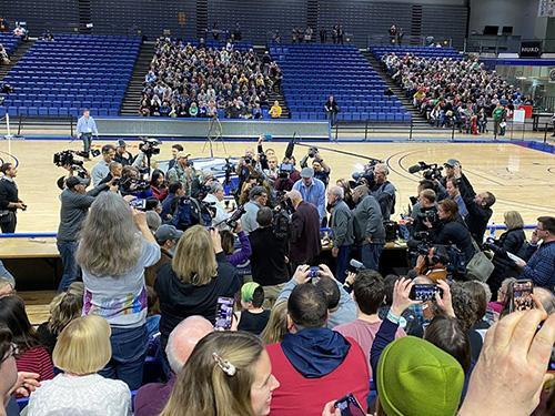 Crowd in a gymnasium