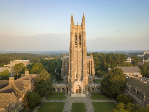 Duke Chapel, aerial view