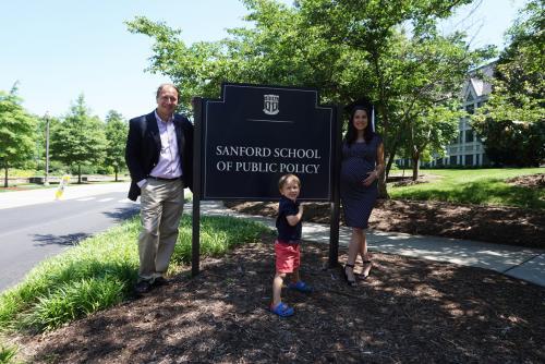 Alejandro Weber MIDP/MBA'17 and Daniela Peñaloza MIDP'15 and their oldest son